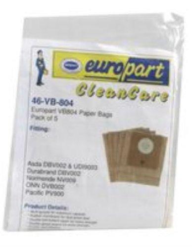 Europart vb804 Non Original bolsas de papel para/Durabrand/NORMENDE/ASDA  ONN/Pacific Series