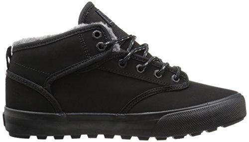 Globe Motley Mid, Chaussures montantes homme Noir, fausse fourrure noire