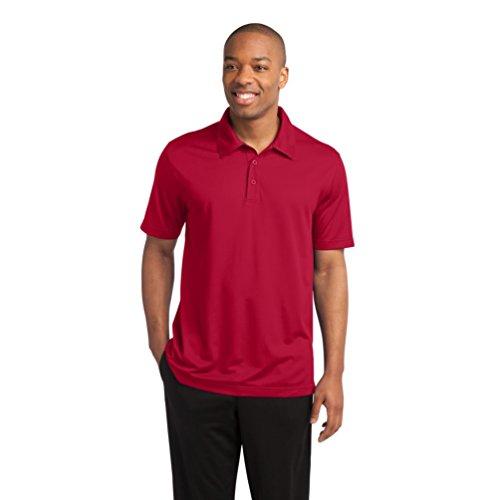Sport-Tek Herren Button-down Poloshirt Gr. XX-Large, Rot - True Red