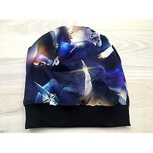 Beanie Mütze Weltraum Digitaldruck für Kopfumfang 53-58 cm