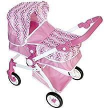 ColorBaby - Carrito de paseo convertible en sillita, color rosa (43104)