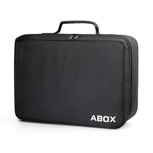 ABOX A6 Beamertasche Groß - 42x29x10cm Wasserdicht, Kratzfest für meisten Projektor- Schwarz