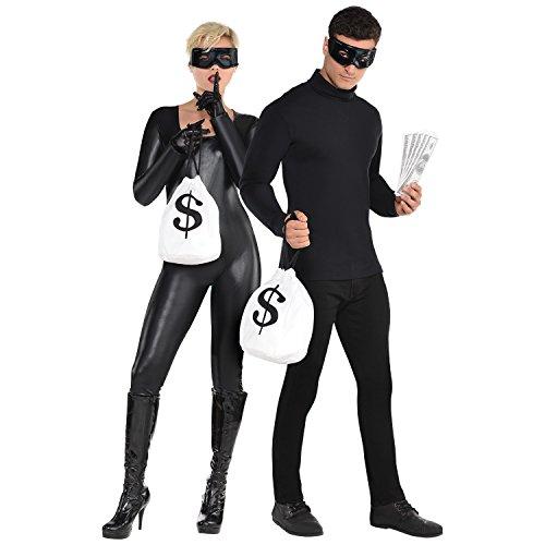 Dieb Kostüm-Set Maske, Handschuhe & Geldsack