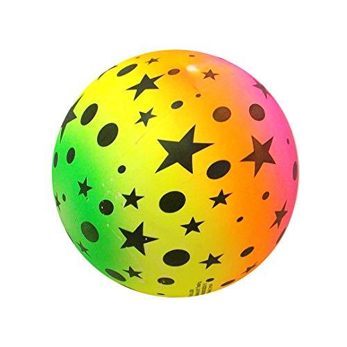 Huggables ((Packung mit 3 x Rainbow Soccer Ball 22 cm (8 und 1/2 Zoll) - Neon-Gummiball für Kinder, idealer Spielplatz-Spaß oder Partybeutelfüller.