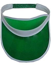 Wicked Fun Unisex Sun Visor Fancy Dress - Visor Hats Poker 1980s Golf Tennis Cap (Green)