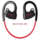 Auriculares deportivos EMEBAY con Bluetooth 4.1, IPX7 impermeable, inalámbrico, para correr, natación, buceo, Dacom P10 Red Upgrated + MP3