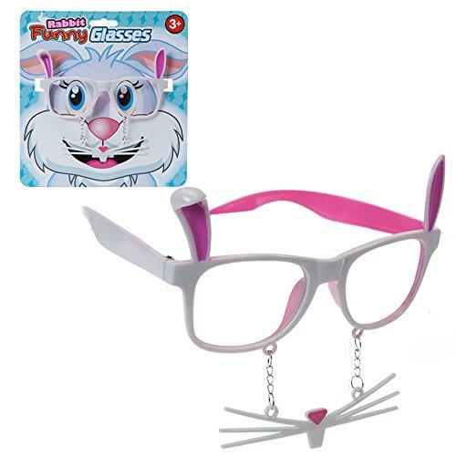 PMS Ostern Funny Kaninchen Gläser W/Schnurrbarthaare + Zähne auf PVC C