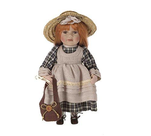 Muñeca de Porcelana de 30 cms con soporte. MARGHERITA - BAM002