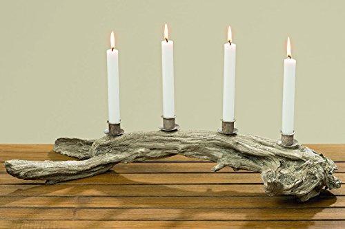 Kerzenleuchter Baumstamm 62cm aus Kunstharz