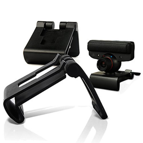 HuntGold TV Monitor Holder Clip Mount Stand For Sony PlayStation 3 PS3 Move Eye Camera