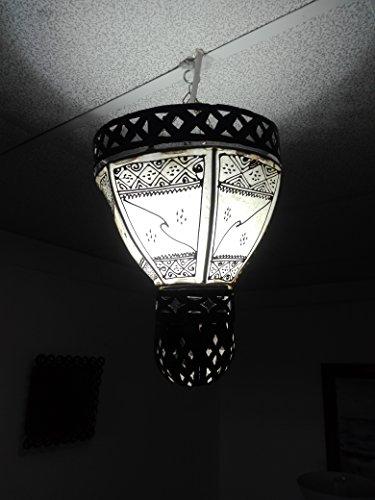 Lámpara marroquí lámpara farol Piel Hierro Henne Oriental Hippie étnico chic 1200