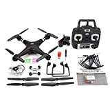 GreatWall SH5HD 720P Caméra HD WiFi réglable FPV Drone RC Quadcopter Altitude Hold Noir