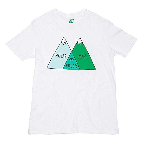 POLER Kinder Youths Venn T-Shirt, White, M (Shirt White Patagonia)