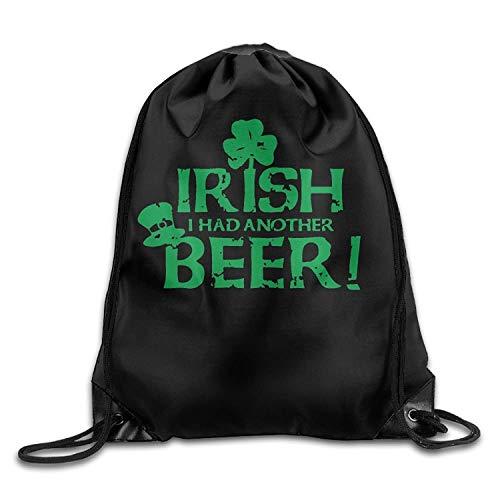 ZHIZIQIU St. Patrick's Day Irish Drawstring Backpack Beam Mouth Gym Sack Rucksack Shoulder Bags for Men & Women