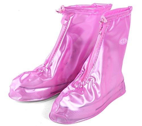 Gaatpot Wasserdicht Regenschuhe Überziehschuhe Regen Schutzschuhe Fahrrad Überschuhe Schuhhülle für Unisex - Erwachsene XL