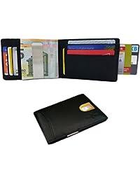 FreeHaveFun RFID Leder Kreditkartenetui Geldklammer   NFC Geldclip Kreditkartenhalter   Kartenbörse Geldscheinklammer Geldbeutel Portemonnaie Geldtasche Ausweisetui