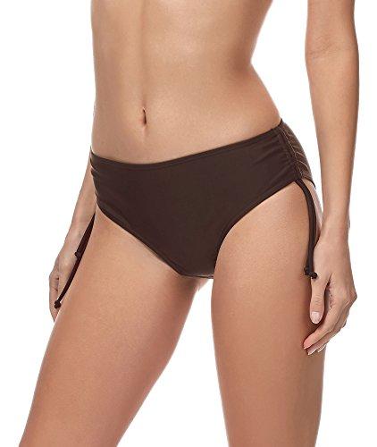 Merry Style Damen Bikini Slip MSVR2 (Braun (8157), 48)