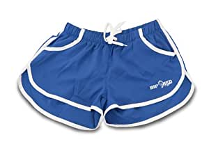 Big Red Apparel - Micro Stretch Fitness/Gym Shorts BLUE (Extra Large)