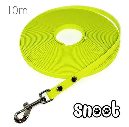10m Schleppleine für kleine Hunde, 10mm, 1 Hook, gelb
