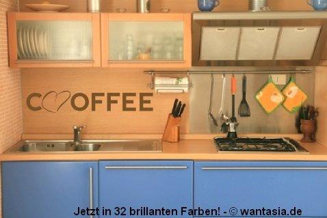 Wandtattoo Für Die Küche Text / Sprüche   Coffee   Kaffee Mit Herz 29x5 Cm,  Schwarz, 620089 Wandaufkleber Wandtatoos Sticker Aufkleber Für Die Wand, ...