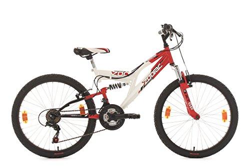 KS Cycling Kinderfahrrad Mountainbike Fully 24'' Zodiac rot-weiß RH38cm