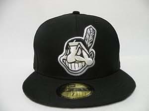 NewEra MLB Cleveland Indians Basic Black White 59fifty Cap New Era 7 3/8