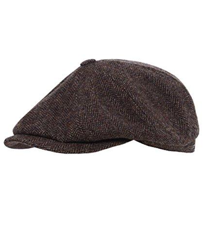 Hatteras Woolrich Coppola Stetson cappello piatto berretti piatti 59 cm - marrone