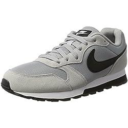 Nike MD Runner 2, Baskets mode homme - Gris (Wolf Greyblackwhite 001), 42.5 EU