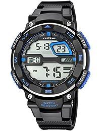 b5609ade57e5 Calypso Hombre Reloj Digital con Pantalla LCD Pantalla Digital Dial y  Correa de plástico en Color