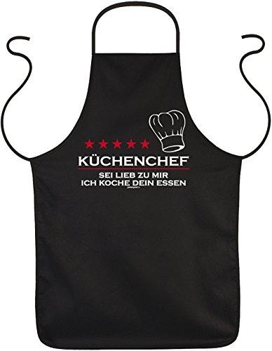 bedruckte Kochschürze für den Hobbykoch Koch Küchenchef - Geschenk Grill Schürze Grillschürze Latzschürze Partyschürze Küche