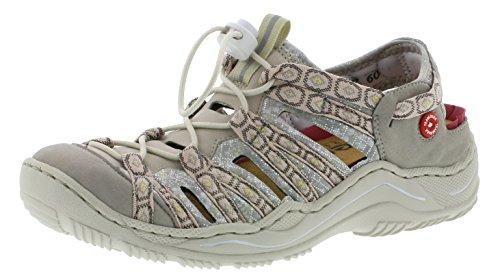 Rieker Damen Sandalen Beige, Schuhgröße:EUR 40