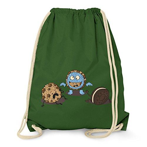 nk Cookie - Turnbeutel, dunkelgrün (Halloween-oreos)