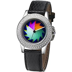 Rainbow Watch Ladies Watch Elegancia Crystal Saw EL47A-LB-sa