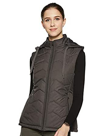 Cazibe Women's Quilted Jacket (39239BT_Charcoal_M)