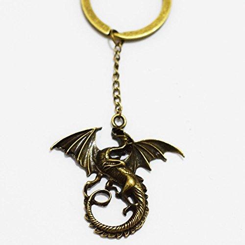 Dragon Charm Schlüsselanhänger, Gorgeous Schlüsselanhänger, Mimi Schlüsselanhänger Drache Charm Everyday Geschenk Schlüssel Kette, einzigartiger Schlüssel Ring Geschenk Silber Drache Charm