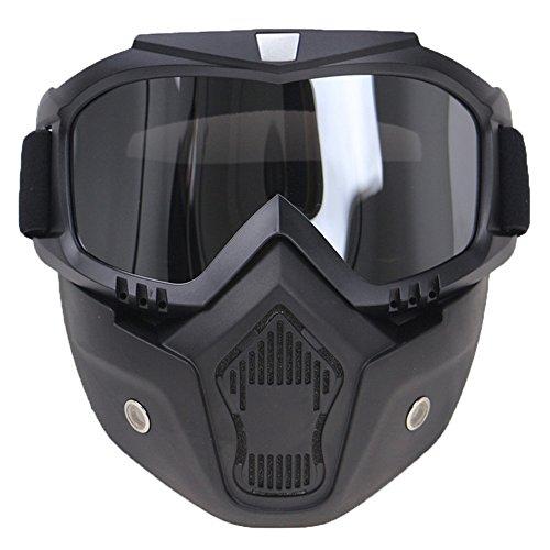 Festnight Motorrad Helm Schutzbrillen Retro Halbhelm Glas Maske Winddicht UV Schutz Reitbrille für Motorrad Reiten