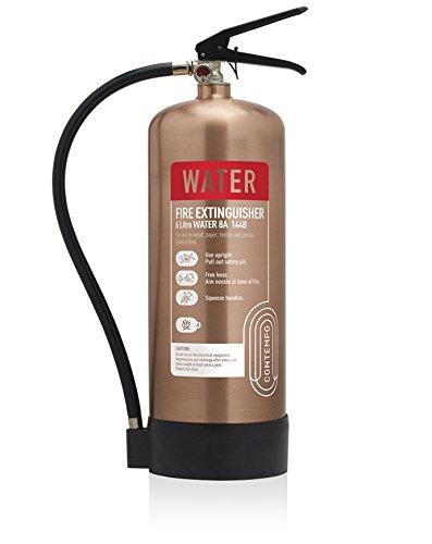 Designer-Antik Kupfer 6Liter Wasser Feuerlöscher. CE. Ideal für Luxus Büros, Geschäften, Hotels, Restaurants und-sensiblen Bereichen.