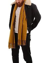3646233d3547 Accessoire Top Tendance Écharpe Pashmina Foulard Homme Cachemire Automne –  Hiver Touché Soyeux Couleur Uni 200