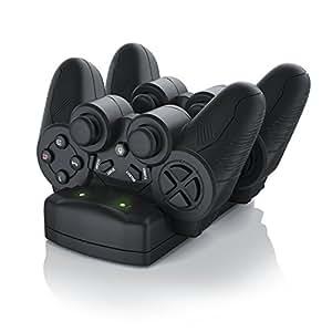 CSL - Stazione di ricarica per gamepad Sony Playstation PS3 / PS3 Move / PS4 | Dual Controller Charger / Caricatore / Docking-Station / Dual Charging Station con alimentatore
