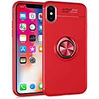 Shinyzone iPhone XS Max Hülle,Rot mit Ring 360 Grad Drehbarer Standfunktion,Ultra Dünn Weich TPU Stoßfest Schutzhülle... preisvergleich bei billige-tabletten.eu