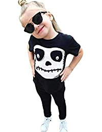 Outtop(TM) Baby-Boys' Skull Print Tops Pants Halloween Costume Outfits Set