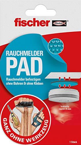 Fischer Rauchmelder Pad, 1x rund doppelseitig mit Vakuum-Technologie, Ø75mm, extra stark,...