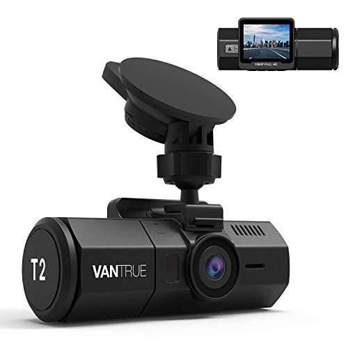 VANTRUE T2 OBD Dashcam 1080P 24/7 Full HD Mikrowave Überwachung Auto Kamera, Sony Sensor HDR Nachtsicht Kondensator Car Camera Dash Cam, 160° 2 Zoll Autokamera für KFZ Hitzebeständig, Max. 256GB