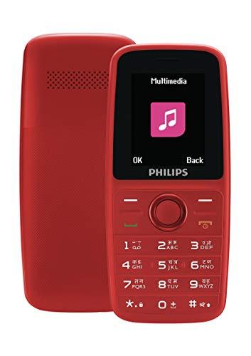 Philips Xenium E108 Dual SIM Mobile Phone-Red