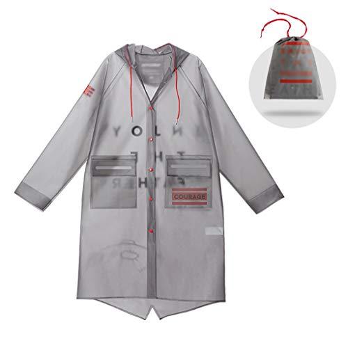 LLHY Transparenter Regenmantel, Ganzkörper-Mantel für Männer und Frauen im Reitstil. Weicher, atmungsaktiver Regenmantel mit Langer Windjacke Yuyi (Size : XL) -
