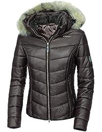 Pikeur–Mujer chaqueta acolchada con capucha desmontable bellice, unisex, gris oscuro