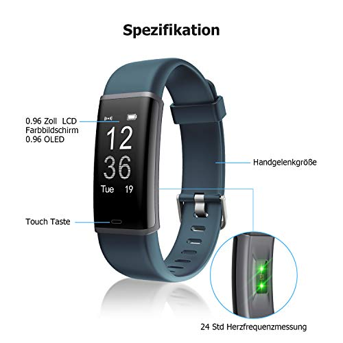 Letsfit ID130PlusHR Fitness Tracker - 8