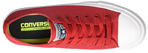 Converse Ct As Ii Ox Tencel, Chaussures Mixte Adulte Rouge