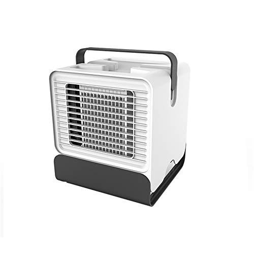 Guoyajf Luftkühler-tragbarer Mini-Ventilator-Evapolar-Luftbefeuchter Persönlicher Raumkühler, Mini-Kühler, 2-Gang-Gang, Luftkühler und Luftreiniger im Büro,White