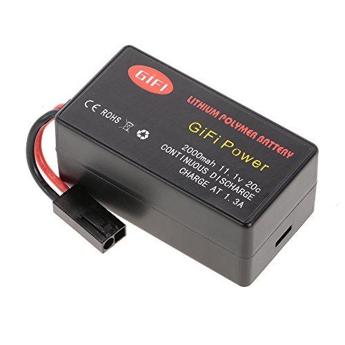 Goolsky 11.1V Batterie 2000mAh 20C LiPo pour Parrot AR.Drone 1.0 2.0 Quadcopter